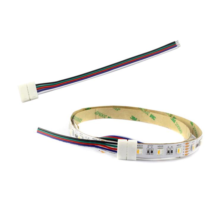 12MM PCB RGBW LED Strip Light Connectors Solderless - mjjcled.com