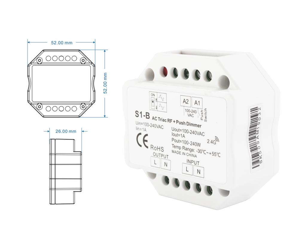 Dimmer for LED lamps 220v 10