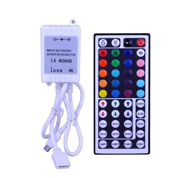 wireless rgb led strip 44key ir remote controller. Black Bedroom Furniture Sets. Home Design Ideas